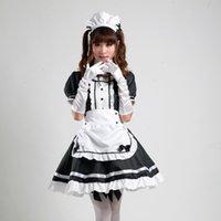 xxl cosplay lolita maids großhandel-Japanische Meistgekaufte Fancy Mädchen Alice im Wunderland-Fantasie-Blau-Licht-Ton-Lolita Mädchen-Ausstattungs-Mädchen Cosplay Kostüm-Mädchen-Kleid