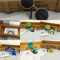 Wholesale small dog sunglasses resale online - Tiktok dog cat sunglasses small round frame pet glasses personalized funny pet accessories