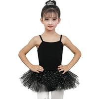 falda tutu bailarina al por mayor-Gimnasia Leotard Girls Ballerina Tutu Dress for Performance Falda Ropa de ballet Ropa de baile Con faldas de gasa