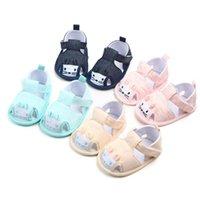 Wholesale moccasins baby sandals resale online - Newborn Summer Cotton sandals baby moccasins Anti slip Baby infant girls boys sandals