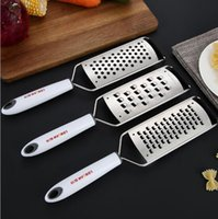 Wholesale square hole stainless steel for sale - Group buy 304 stainless steel cheese grater kitchen household potato radish fries round square hole cheese grater
