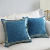 ingrosso coperture del cuscino posteriore del sofà-Europa vintage ricamo cuscini di tiro cuscino per la decorazione domestica federa divano sedile posteriore cuscino 45x45 cm / 60 * 60 cm