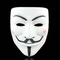 hacker mask venda por atacado-Hot filme V de Vingança Mask PVC Cosplay Facial Film Tema Vendetta Hacker Máscaras Halloween Careta