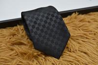 gravatas verdes prateadas venda por atacado-Laços dos homens Marca Homem Carta de Moda Gravatas Hombre Gravata Gravata Fina Festa de Casamento banquete de Negócios Clássico Casual black Tie Para Homens G0901