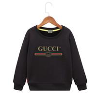 ingrosso ragazzi grandi-Ragazza maglione 2019 Nuovo modello Autunno e primavera Pretend Vestiti per bambini Bambini False Jacket Grandi ragazzi con cappuccio