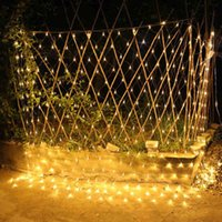ingrosso le luci delle fate del giardino-LED 6M * 4M 672 LED Web Net Light Fata Natale Home Garden Light Curtain Net Lights Net Lampade 110 V 220 V Super Bright String Light