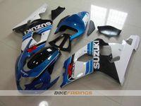 motocicletas gsxr plásticos venda por atacado-Novos kits de carenagens de moto de plástico ABS para Suzuki GSXR 600 750 04 05 Carenagem GSX-R600 R750 2004 2005 estilo personalizado Grátis pára-brisas