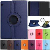 huawei t1 capa venda por atacado-360 Rotativa Flip Stand Case Capa Flip De Couro Para Huawei MediaPad T1 T3 T5 7.0 WI-FI 8.0 10 9.6 M2 M3 Lite 10.1 M5 8.4 10.8