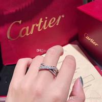 ingrosso bronzo medio-orientale-anelli di gioielli da donna in argento sterling 925 con diamanti anello carrello marca di lusso bague dame anello donna Anel de senhora scatola originale