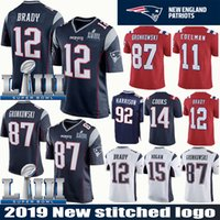 dc3948df5 Wholesale football jerseys 92 online - 12 Tom Brady Patriots Jersey Rob  Gronkowski Super Bowl Julian
