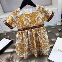 robe tutu papillon fille rose achat en gros de-2020 nouveaux enfants Printemps Eté Fille Imprimé robes vintage floral enfants princesse enfants robe de fleurs de vêtements au détail