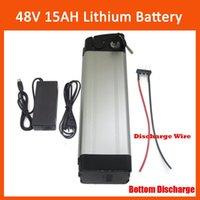 ingrosso batteria al litio-Batteria al litio ricaricabile da 750W 48V per bici elettrica al litio 48V 15AH con caricatore da 54.6V 2A e scarico inferiore BMS