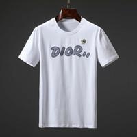 t-shirt hals design großhandel-Die Designer-T-Shirts der Männer verrücktes Mann-T-Shirt, das T-Shirts versteckt, entwerfen weites rundes Hals-Oberseiten-T-Stücke