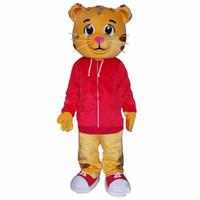 casacos de fantasia venda por atacado-Bonito Daniel the Tiger Red Jacket Personagem de Banda Desenhada Do Traje Da Mascote Do Fancy Dress frete grátis