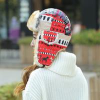 ingrosso cappelli di cuoio coreani-Family Knit Lei Feng Cap Cappelli per bambini Cappelli per bambini Versione coreana all'ingrosso di tappi per le orecchie EEA213 di moda