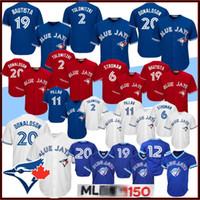 Wholesale alomar jersey for sale - Group buy Josh Donaldson Blue Jays Toronto Men Baseball Jerseys Jose Bautista Joe Carter Kevin Pillar Marcus Stroman Roberto Alomar