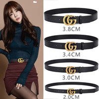 Wholesale custom silver buckles resale online - Men high grade leather belt custom belt custom leather belt fashion SIZE CM Women Belts Gold and silver buckle