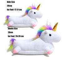 ingrosso baby kigurumi animale-Toddler Kids Unicorn Pantofole Cartoon Animal Claw Kigurumi pigiama Baby Home Scarpe Ragazzi Ragazze Adulto Abbigliamento casual Cosplay
