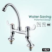 ingrosso ottone moderno rubinetto-Due maniglia centerset bagno Vessel Sink rubinetto moderno ottone Lavandino del bagno rubinetti cromati Bacino rubinetto vasca da bagno Acqua di rubinetto