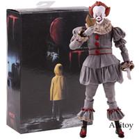 figura dos palhaços venda por atacado-Neca Brinquedos Stephen King É O Palhaço Pennywise Figura Pvc Figuras de Ação Horror Collectible Toy Modelo C19041501