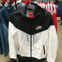 fermuarlı kollu hoodie toptan satış-2019 Erkek Kadın Tasarımcı Ceket Ceket Lüks yeni Kazak Hoodie Uzun Kollu Sonbahar Spor Fermuar Windcheater Erkek Giysileri Artı Boyutu Hoodies