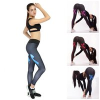Wholesale fitted yoga pants resale online - Fashion Running Leggings Stretchy Waist Hip Lifter Bow Printed Yoga Training Pants Slim Sport Trousers Fit Ladies Clothes bp E19