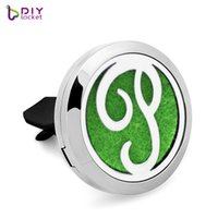 Wholesale essntial oil resale online - 30mm Car Aromatherapy Locket L stainelss steel Magnetic Essntial oil Diffuser Locket AE268
