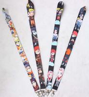 Wholesale anime lanyard strap resale online - New anime cute cartoon neck Strap lanyard for keys Identification card gym mobile phone USB straps badge holder DIY hang rope
