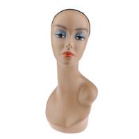 Wholesale model jewelry display resale online - Female Mannequin Head Manikin Model Shoulder for Wigs Hat Jewelry Display