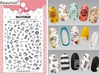 leimspitzen für nägel großhandel-Mode-Muster! Nail Art Maniküre Back Glue Decal Dekorationen Design Nail Sticker für Nägel Tips Beauty