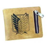 Wholesale attack titan wing online – design Hot Selling The PU Leather Wallet Attack on Titan Wings Cartoon Purse Wallet