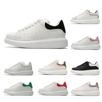 Wholesale suede flats girls for sale - Group buy 2019 Designer Luxury white leather casual shoes for girl women men black gold red grey suede Cheap comfortable flat sneakers size