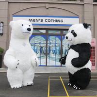 ingrosso bambole gonfiabili adulti-Gonfiabile Panda Doll PASQUA PROFESSIONALE BUNNY MASCOT COSTUME Vestito operato per adulti Vestito da cartone animato