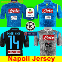 482f06050c0 Thailand 2018 2019 Serie A Naples New SSC Napoli soccer jersey Napoli blue  football jerseys shirt men 18 19 HAMSIK L.INSIGNE Shirt uniforms