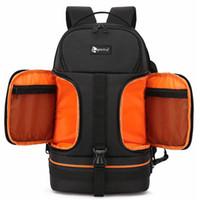 Wholesale camera bag pads resale online - Photo Video Waterproof Shockproof Camera Shoulders Backpack Soft Padded w Reflector Line fit for inch Latptop Tripod Case Bag