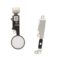 montagewinkel großhandel-Home-Taste mit Flexkabel für iPhone 7 / 7plus Home-Taste Flex + Metallhalterung