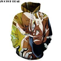 Wholesale anime tracksuit online - Cartoon Characters DragonBall D printing Men Hoodies Popular Anime Sleeves Casual Tracksuits Drop Ship Sweatshirts