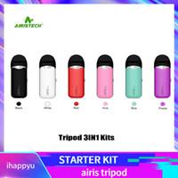 Wholesale 3in1 vape resale online - Airis Tripod in1 Pod Stater Kits With mah Preheat Vape Pen Battery For Thick Oil E Juice Wax Vape Cartridges Authentic Airistech