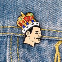 ingrosso pin divertente-Nuovo modo di arrivo Freddie Mercury smalto Pin Cartoon Distintivi divertenti spilla per borse di cappelli di abbigliamento