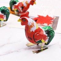 Wholesale vintage wind toys resale online - Metal Chicken Clockwork Toy Vintage Handmade Jump Wind Up Spring Motor Rooster Toys Children Gift Colours Funny for Kids