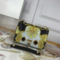 Wholesale design purses handbags resale online - brand fashion luxury designer bags purses handbags high quality new style printing design greek key pattern lock pu crossbody bag