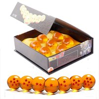 Wholesale anime crystal ball resale online - Anime Dragon Ball Z Super Saiyan Set Dragon Ball Z Stars Crystal Ball DragonBall Box Packaged Figurine Model Toy SH190911