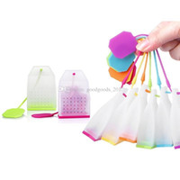 Hot Selling Bag Style Silicone Tea Strainers Herbal Spice Infuser Filter Diffuser Kitchen Accessories Random Color mk0937