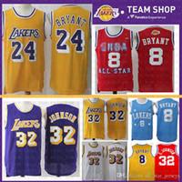 d62b6e9fc6b Mesh 24 Kobe 8 Bryant Los Angeles Jersey Mens Magician Earvin 32 Johnson Basketball  Jerseys Purple white red Retro cheap sale