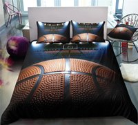 Wholesale dark blue purple bedding resale online - King Size Bedding Set Basketball Series High End D Duvet Cover for Basketball Fan Queen Home Dec Single Double Bed Cover with Pillowcase