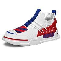 calzado casual de verano para hombre al por mayor-2018 primavera verano de malla transpirable hombres zapatos casuales con cordones zapatillas de deporte del calzado ligero caminar moda casual zapatos planos para hombre