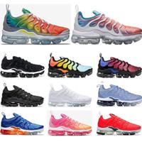 kadınlar için siyah iş ayakkabıları toptan satış-nike air vapormax Yeni Koşu ayakkabıları mens SAF PLATINUM Gökkuşağı Kırmızı Çin iş bule Pembe Deniz Volt beyaz siyah kadın spor sneaker trainer boyutu 36-45