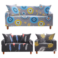 Printed Sofa Cover Stretch Couch Cover, Sofa Slipcovers Stretch Fabric Seater For Couches Elastic Force All Inclusive Full Cover
