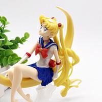 figura menina quente brinquedo venda por atacado-2019 Hot Sailor Moon Action Figure Toy Kids Meninas PVC Coleção Modelo Brinquedos Para Crianças Aniversário Melhor Presente Brinquedo