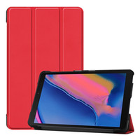 Wholesale tab s pen online - 30pcs Case for Samsung Galaxy Tab A SM P200 SM P205 P207 with S Pen Ultra Slim Leather Magnetic Stand Cover